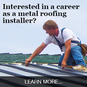 metal roofing career ad